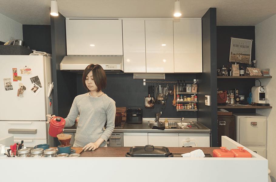 ニューヨークテイストのリノベーションをしたキッチン
